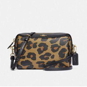 Coach BENNETT Crossbody shoulder Bag leopard 87753